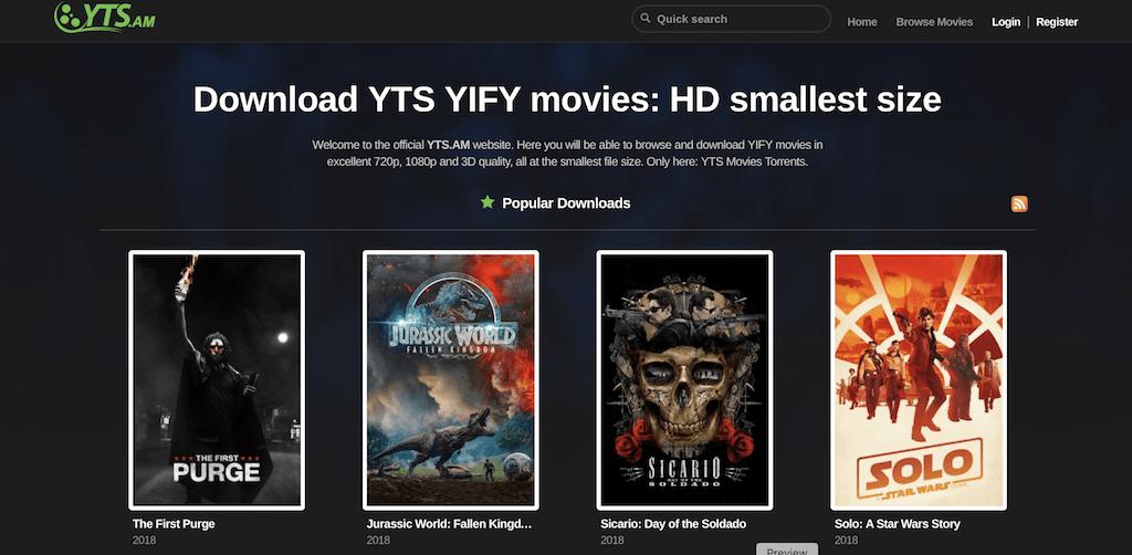 Yify Torrents - rarbg