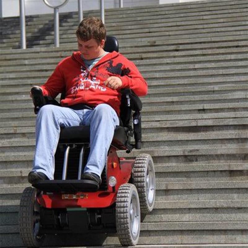 wheelchair climbing stairs